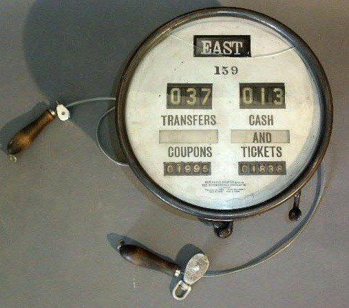 "17: New Haven Register, brass cased painted black. 12""d"