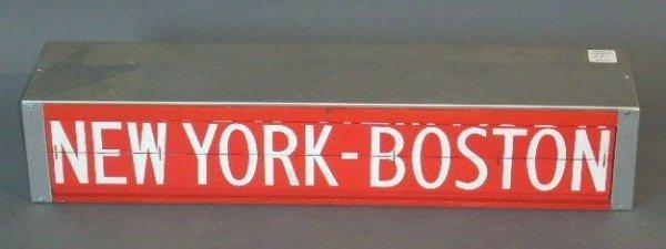 "22: Rail station destination flip sign, c.1980. 6.25""h."