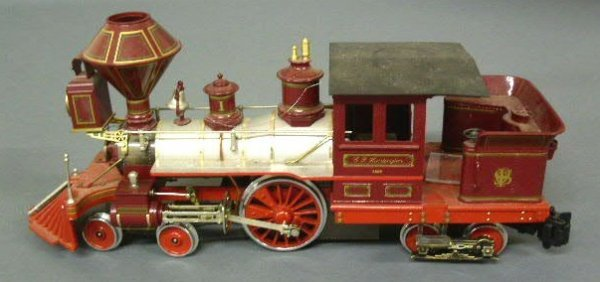 320: Delton model train locomotive #024, cast metal.
