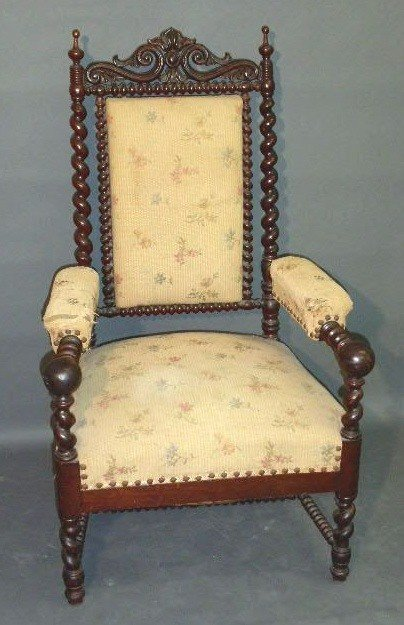 359:   Maple spool turned open armchair, late 19th c. 4