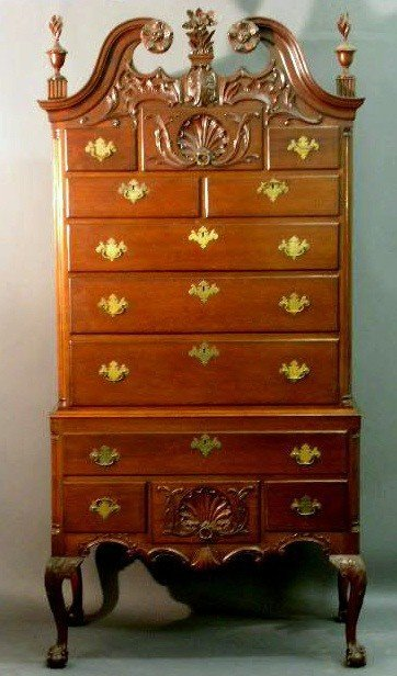 372:   Chippendale mahogany highboy, provenance: Willia