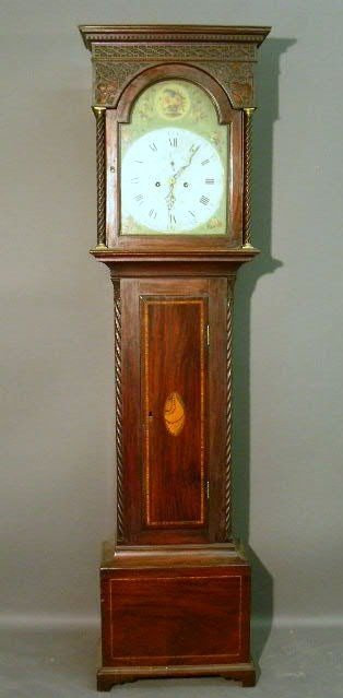 "538:   Scottish tall case clock signed ""Mitchell & Son,"