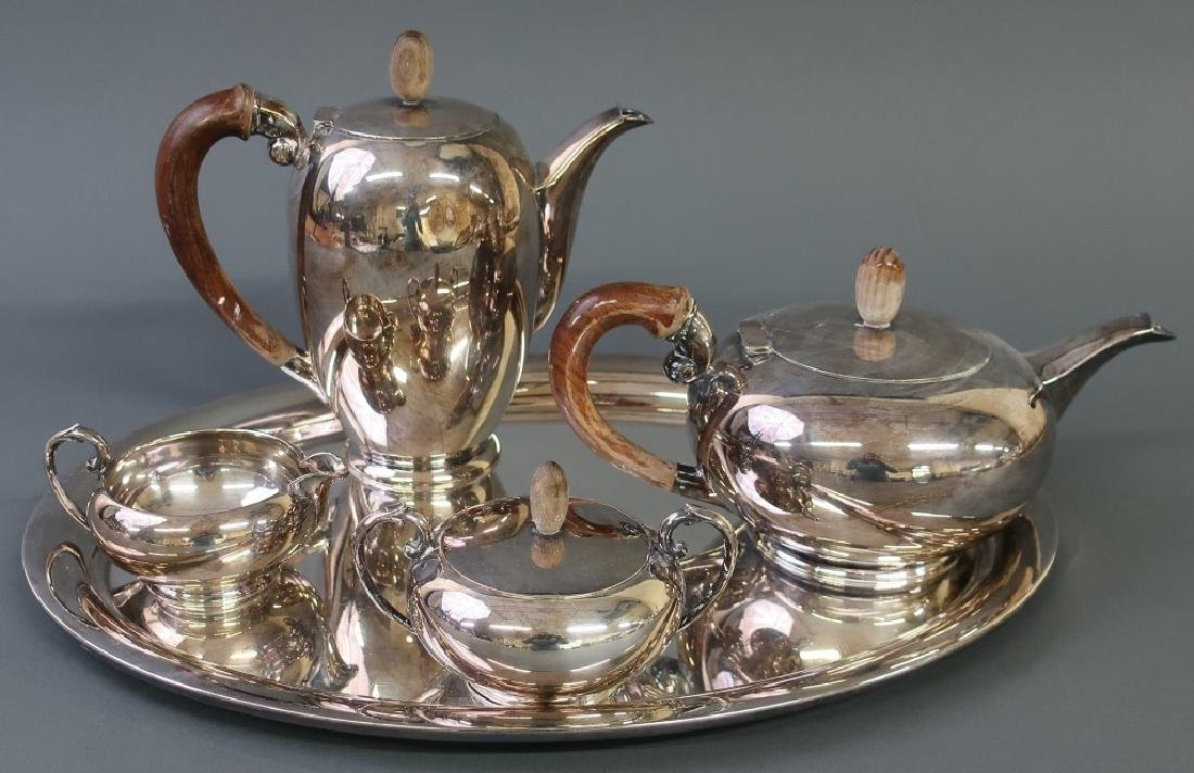 Silver Art Deco Tea Service