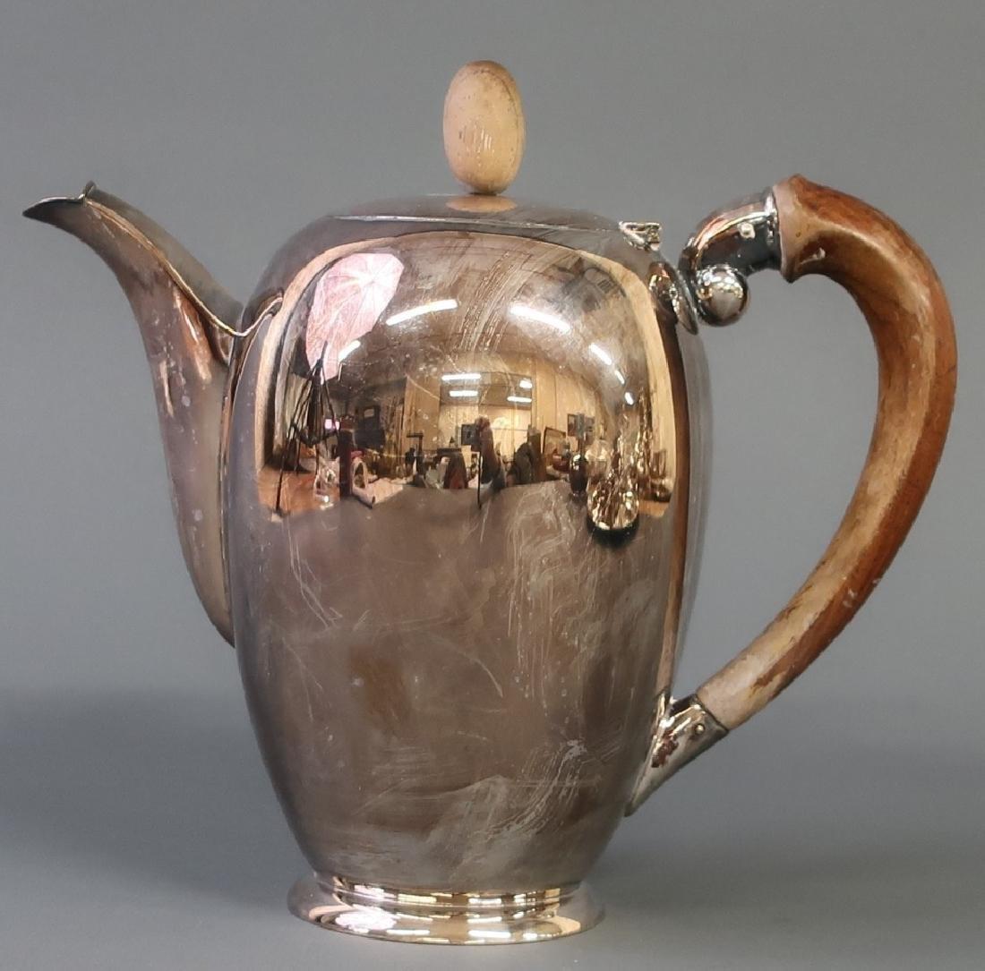 Silver Art Deco Tea Service - 2