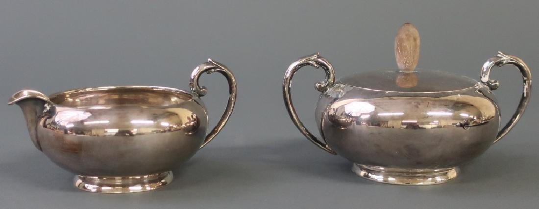 Silver Art Deco Tea Service - 4