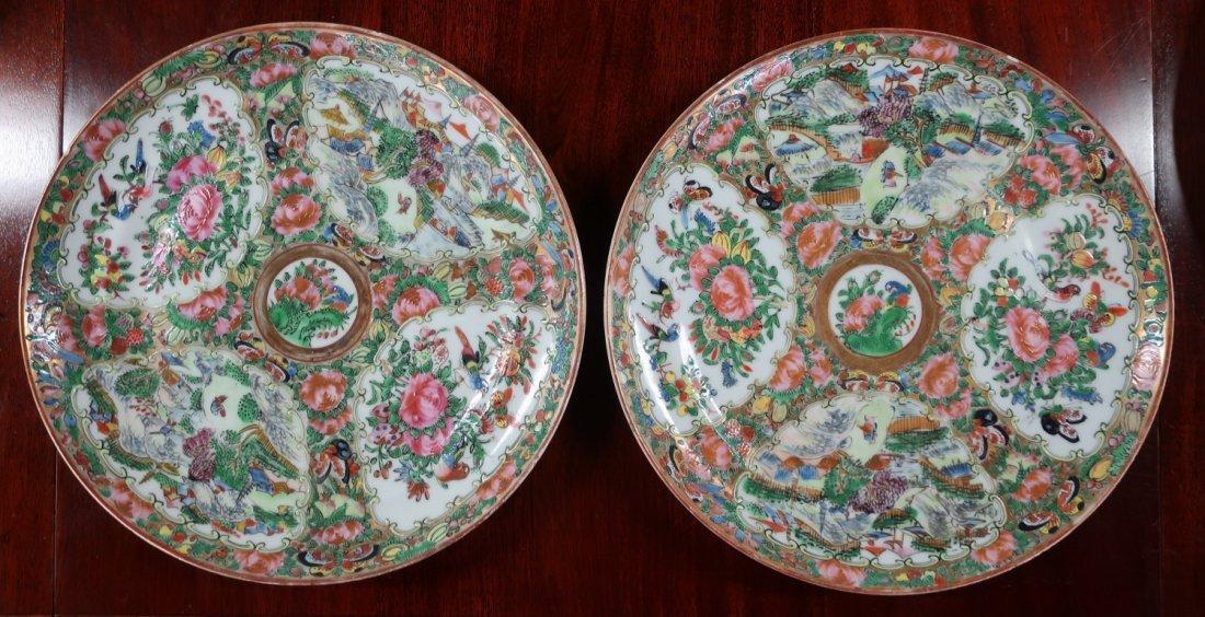 Assembled Set of Twelve Rose Medallion Plates - 2