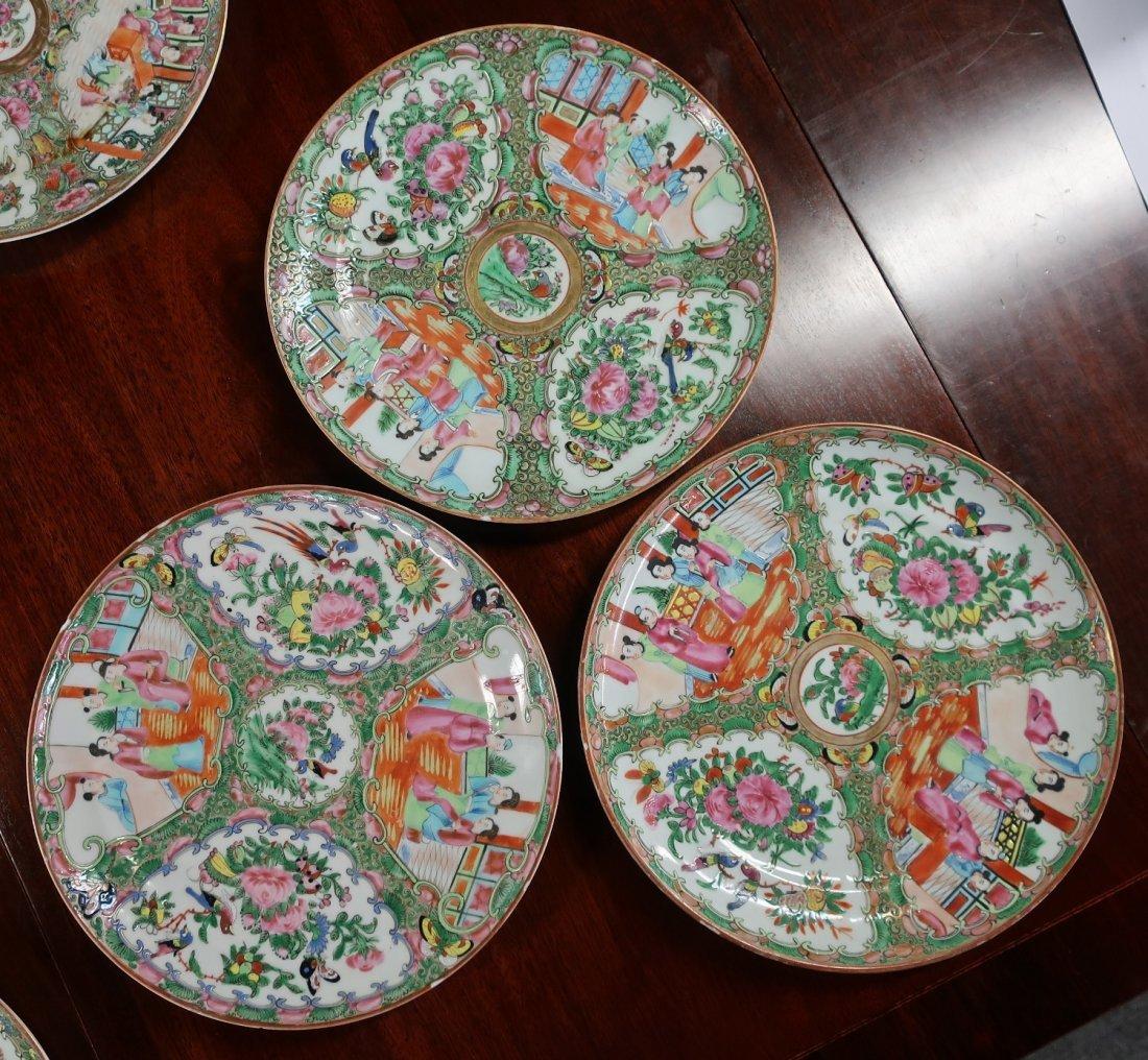 Assembled Set of Twelve Rose Medallion Plates - 3
