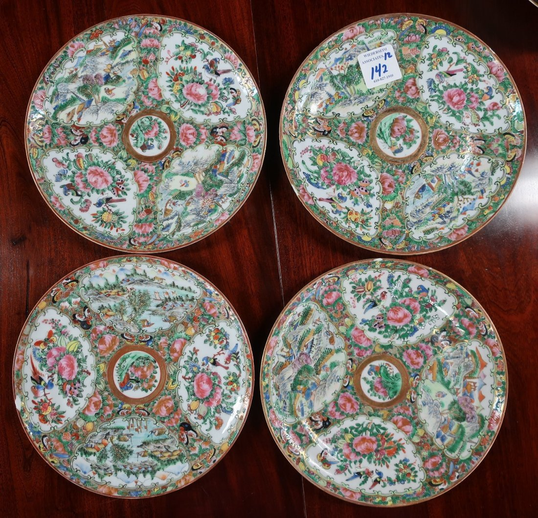 Assembled Set of Twelve Rose Medallion Plates - 5
