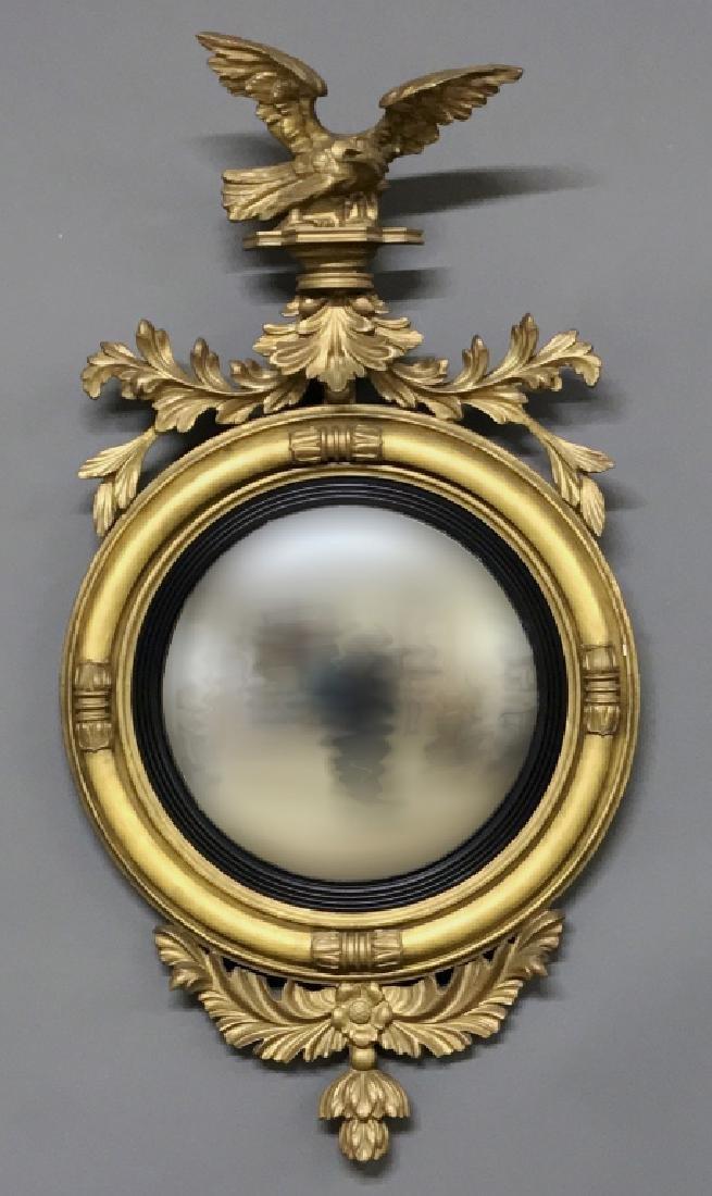 Girandole Mirror with Carved Eagle