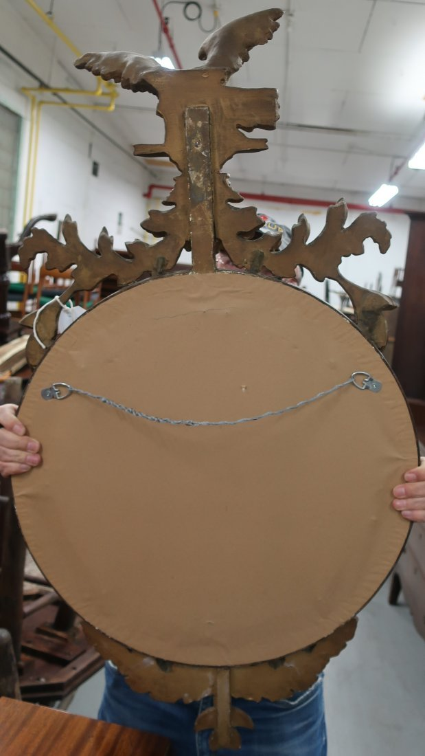 Girandole Mirror with Carved Eagle - 2