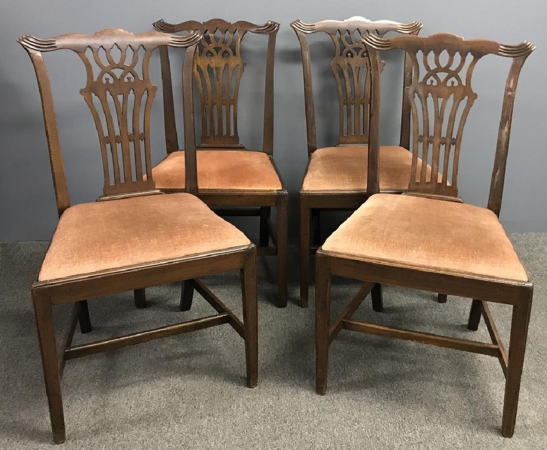 Set of Four Georgian Mahogany Side Chairs
