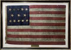 Rare American Centennial Flag, 13 Stars