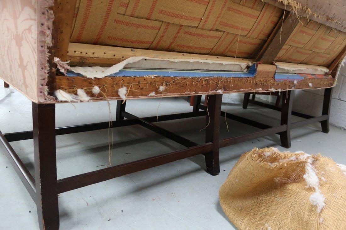 English Chippendale Camelback Sofa - 10