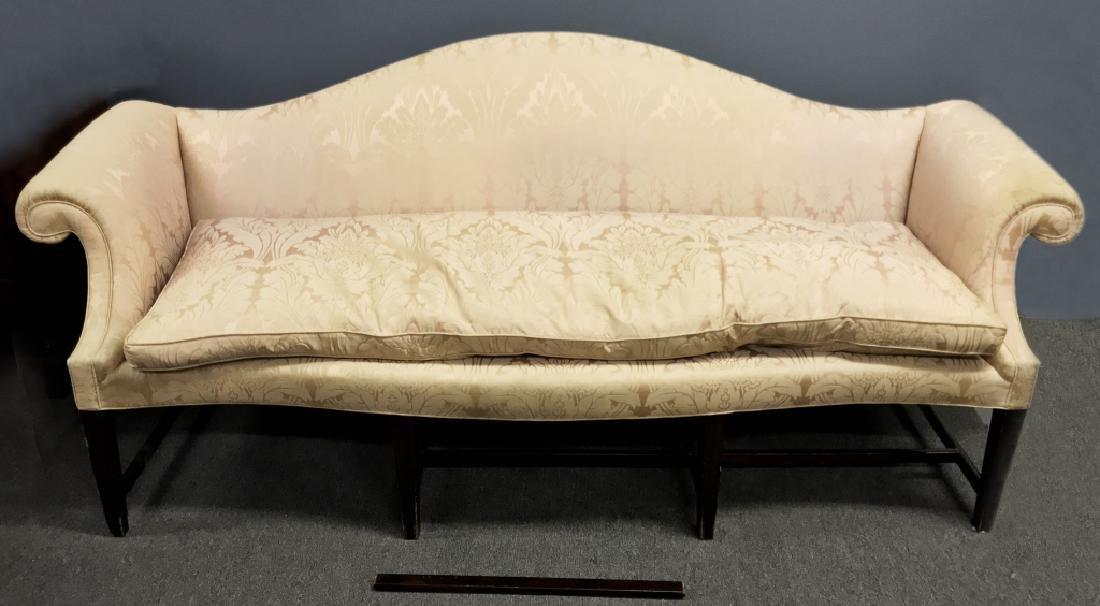 English Chippendale Camelback Sofa