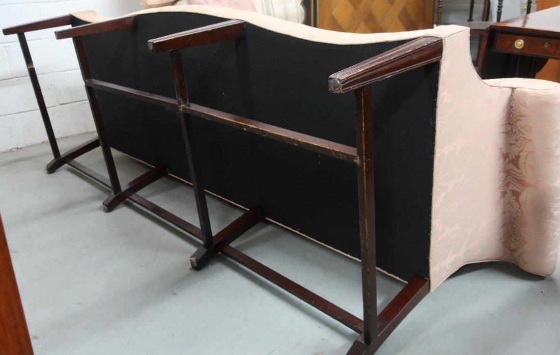 English Chippendale Camelback Sofa - 2