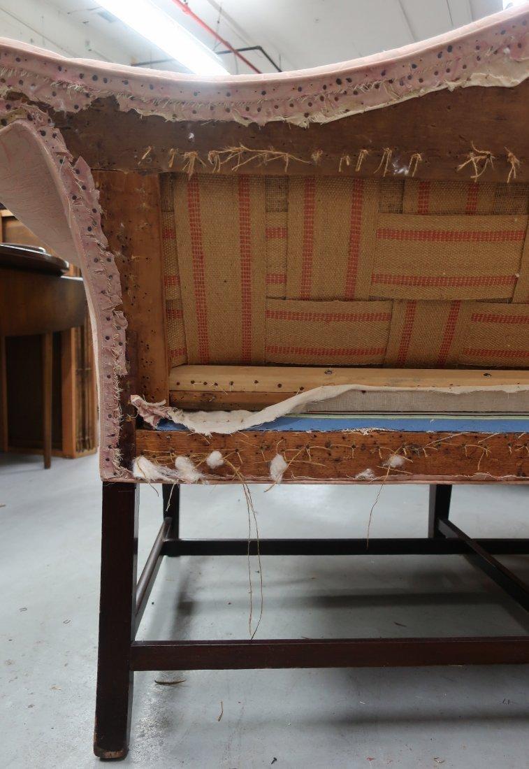English Chippendale Camelback Sofa - 9