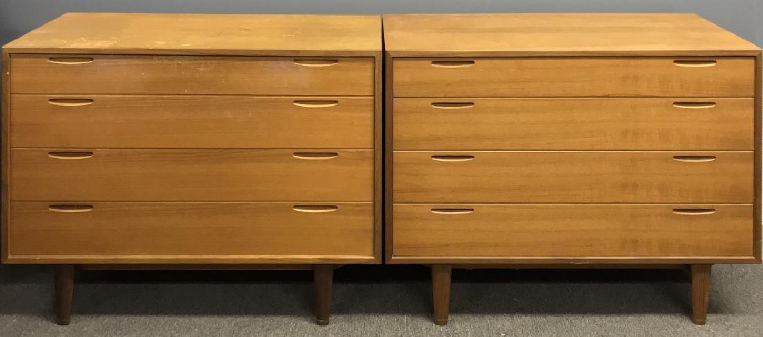Two Danish Mid-Century Modern Dressers - 2