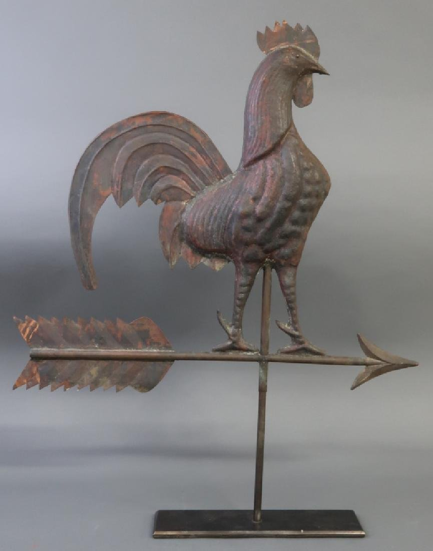 Copper Rooster Weathervane