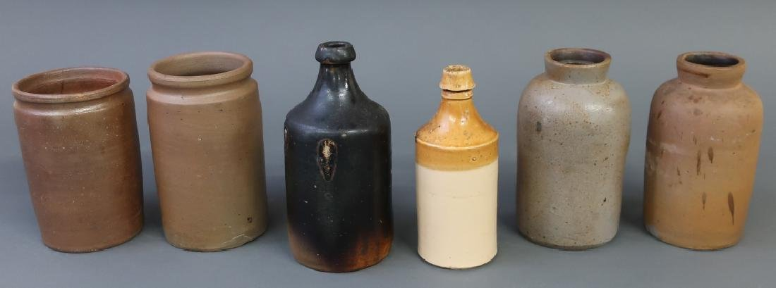 Eleven Stoneware and Redware Jugs and Bottles - 3