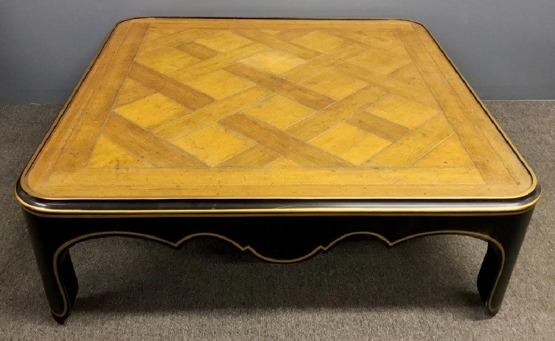 Baker Furniture Co Coffee Table with Parquet Top