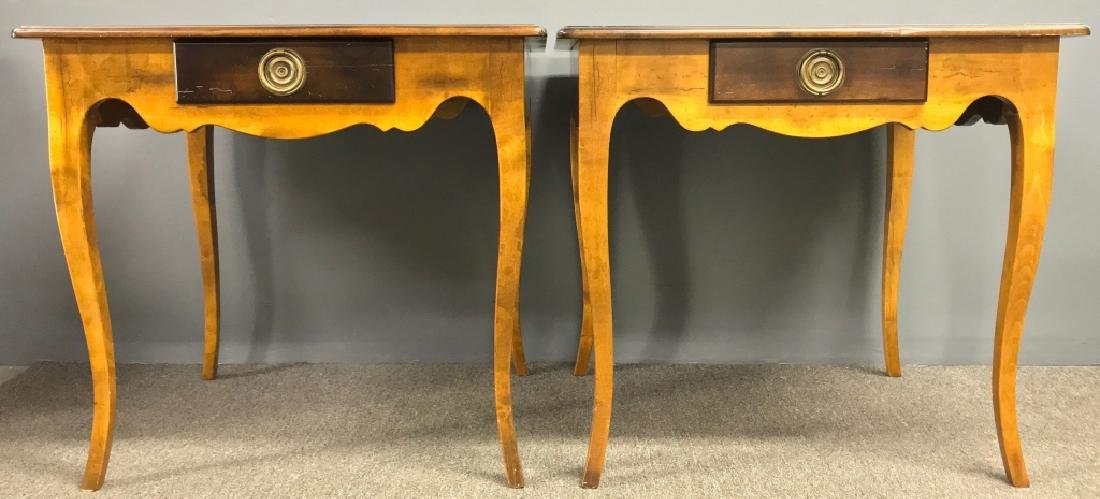 Pair of Italian Fruitwood End Tables - 2