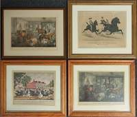 Three Currier & Ives Lithographs & Pharazyn Print