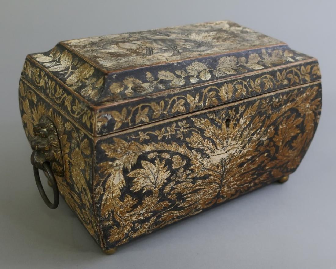 Georgian Sarcophagus Tea Caddy