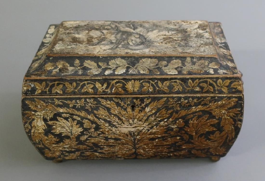 Georgian Sarcophagus Tea Caddy - 2