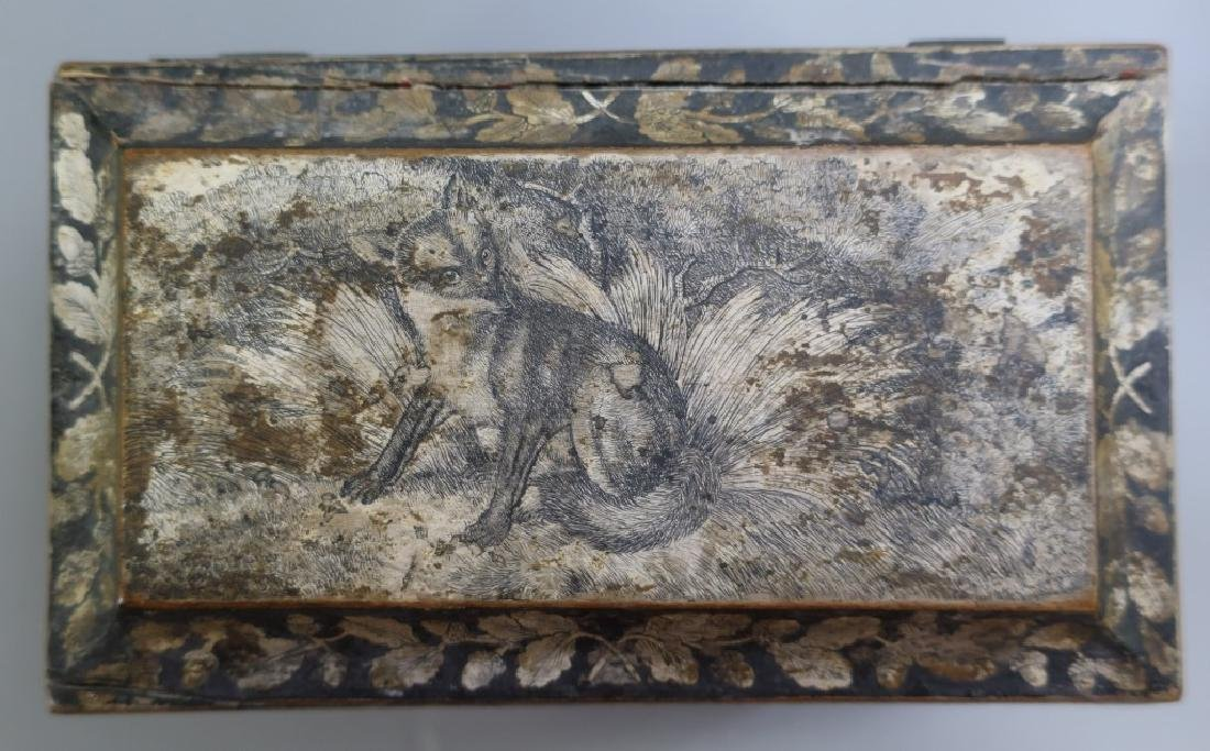 Georgian Sarcophagus Tea Caddy - 4