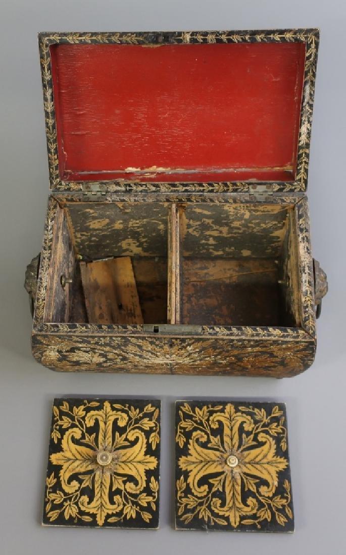 Georgian Sarcophagus Tea Caddy - 6