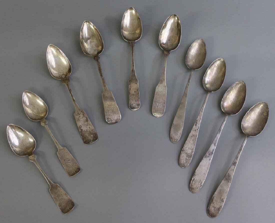 Ten Coin Silver Spoons