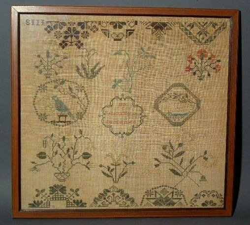 167:  Chester County, Pennsylvania sampler wrought by ""