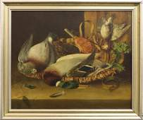 19th Century Oil on Canvas Still Life of Game