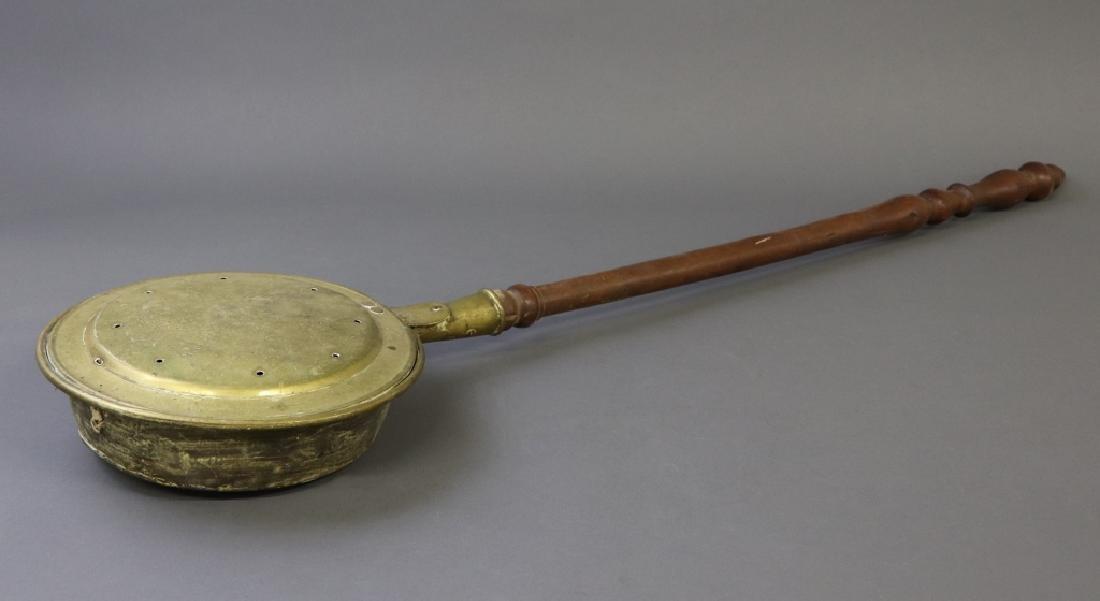 19th Century Brass Bed Warmer