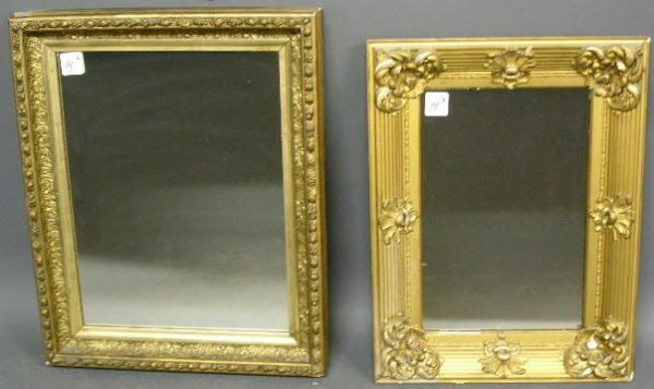 """14: Two gilt mirrors. 27""""x21"""" and 25""""x19"""""""