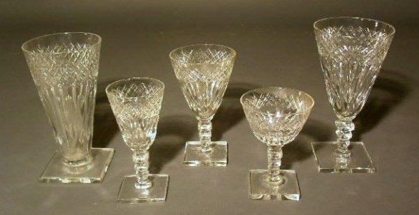 300: Signed Hawkes glassware- eleven water glasses, 6.5