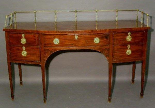 471: Federal Hepplewhite mahogany sideboard, c.1790, pr
