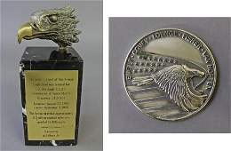 A.J. Obara Bronze Space Shuttle Discovery Eagle