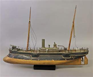 Radiguet French Live Steam Gun Boat