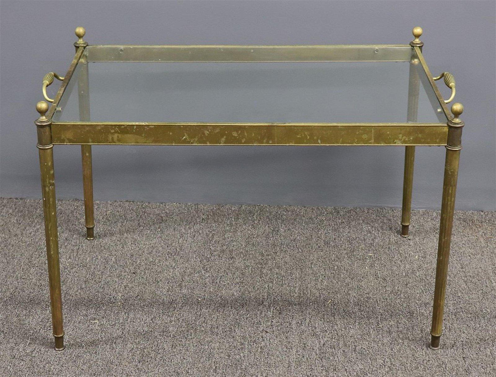 Brass Glass Top Coffee Table