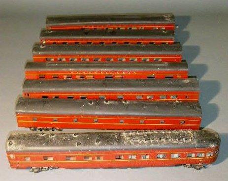 "10: Set of seven ""O"" scale Pennsylvania Railroad cars,"