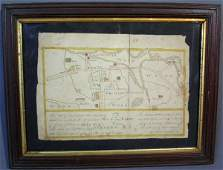 59: Framed hand-drawn map, Chester Co., PA of Weston B.
