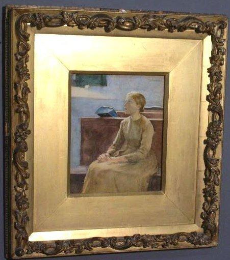 294: Melchers, Gari [American, 1860-1932] watercolor po