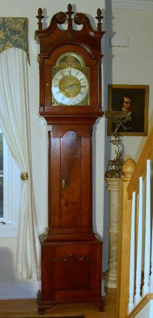 330: Walnut tall case clock, c.1772, Joshua Humphreys