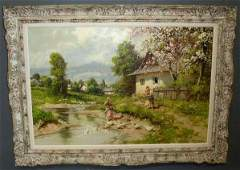 Neogrady, Laszlo [Hungarian, 1900-1962] oil on can
