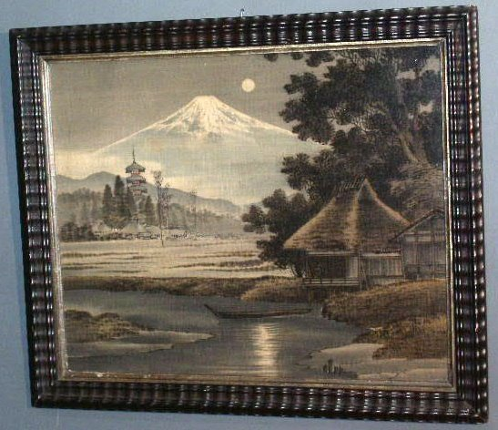 12: Japanese picture of Mt. Fuji printed on cloth, 19th