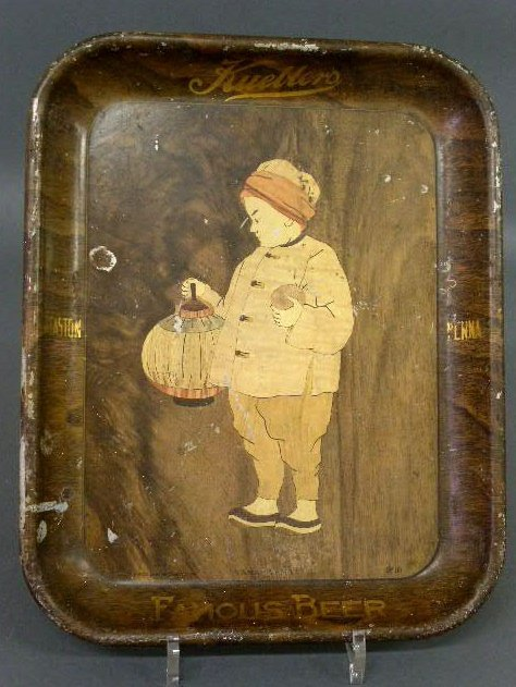 20: Tin beer tray, Kuebler's Easton, PA by American Art