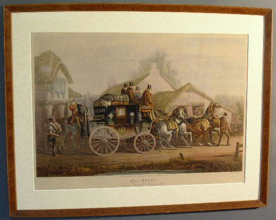 "28: Framed coaching print ""All Right"", 20th c., engrave"