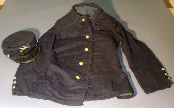 Spanish American war jacket, 1893-94, blue wool wi