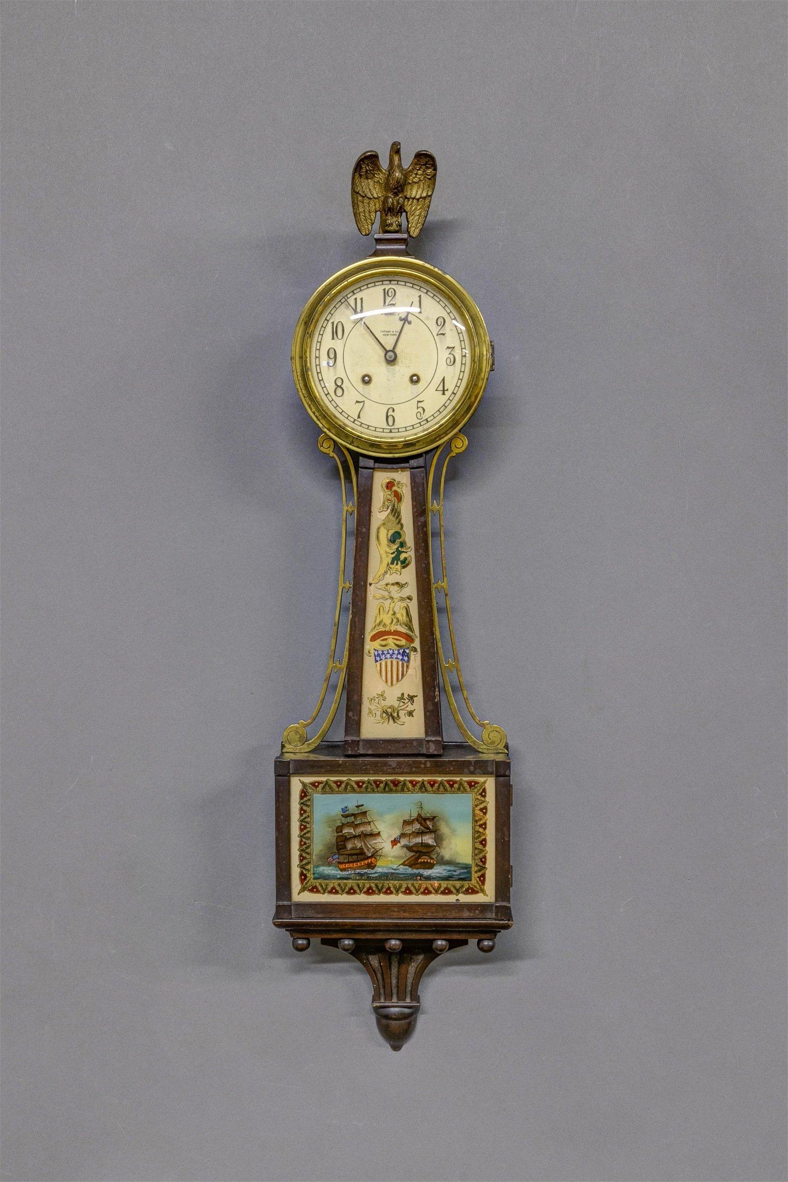 Tiffany & Company Banjo Clock
